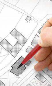 Plan d'aménagement d'un quartier